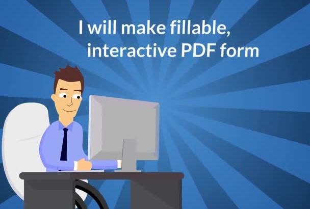 make fillable, interactive PDF form