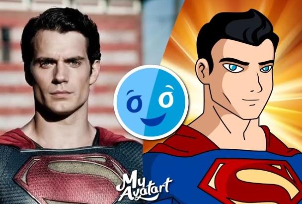 make DC comic superhero caricature yourself