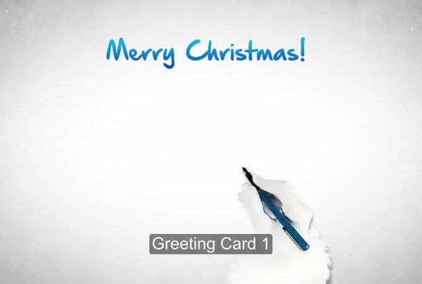 make a magical Christmas greetings video featuring your logo
