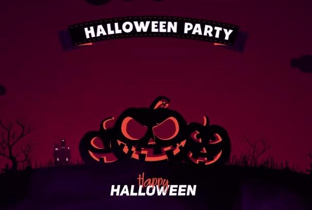 create a Halloween video invitation or greeting