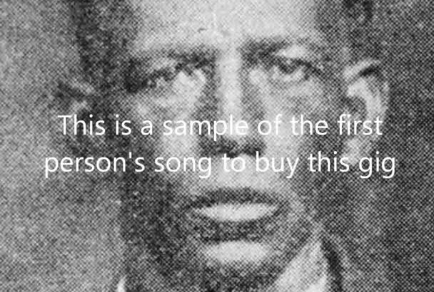 turn your blues lyrics into a recorded song