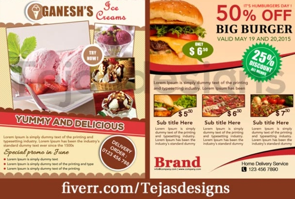 design a pleasant  and elegant flyer designs 1 side