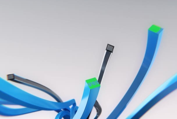 create 3D Lines Logo Intro Video