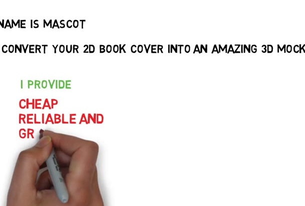convert your 2d cover into a WONDERFUL 3d book mockup
