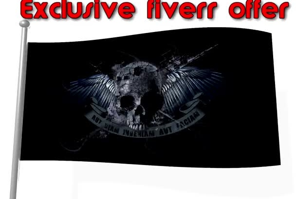 create a waving flag HD animation video for game clan,political party,sport team