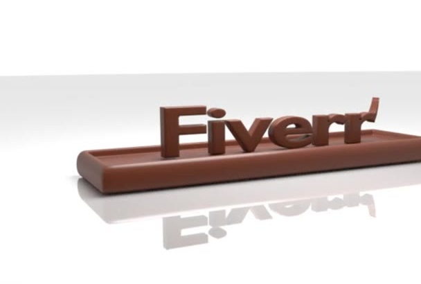 create a video for your name or logo on chocolate