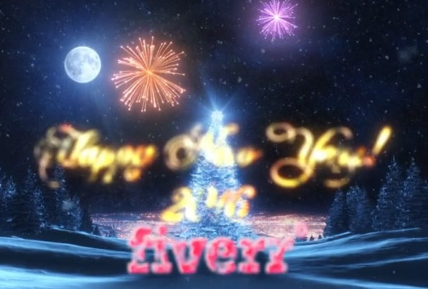 create a Happy New Year intro video with Fireworks