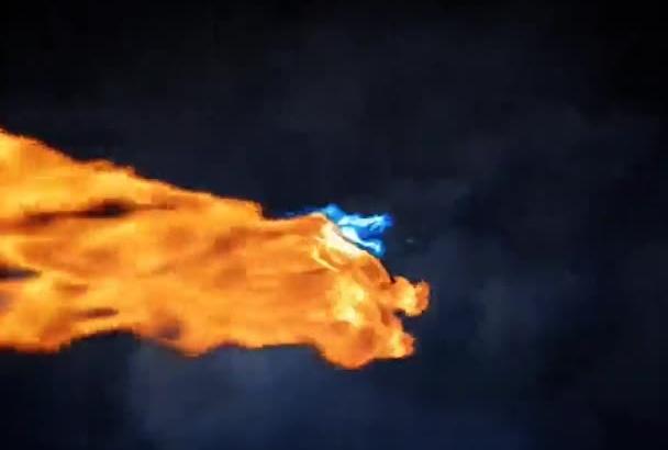 make EXPLOSIVE Dragons logo reveal
