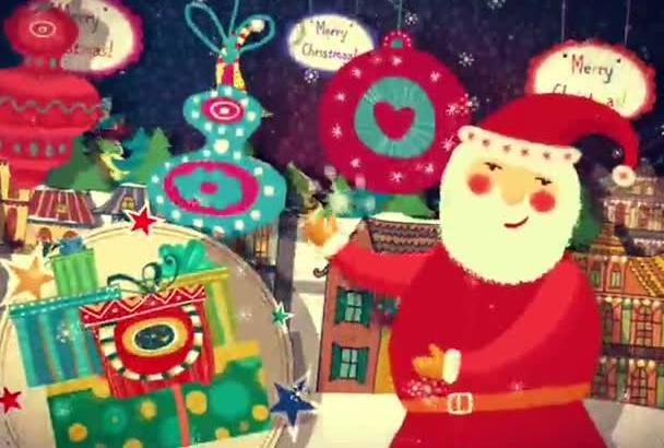 create Beautiful Christmas and New Year Greeting Video