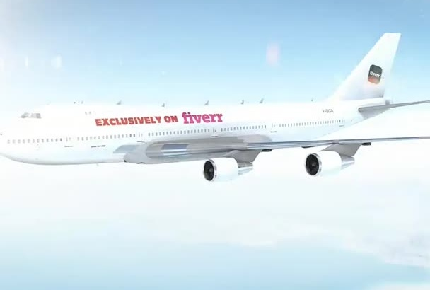create this stunning Airplane intro with your logo