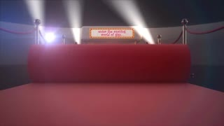 make a red carpet theatre intro animation with your logo and text