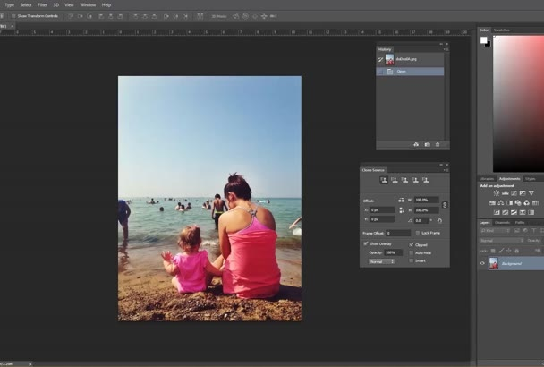 remove an object or person from your picture in photoshop