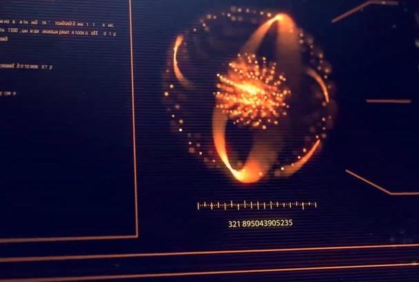create futuristic HUD intro video