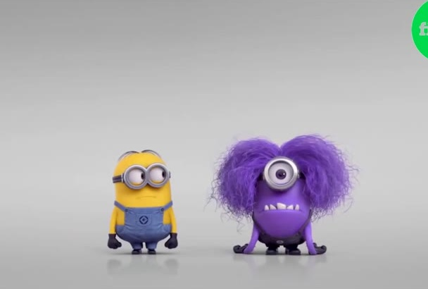 put your logo and text this funny video Evil Minion