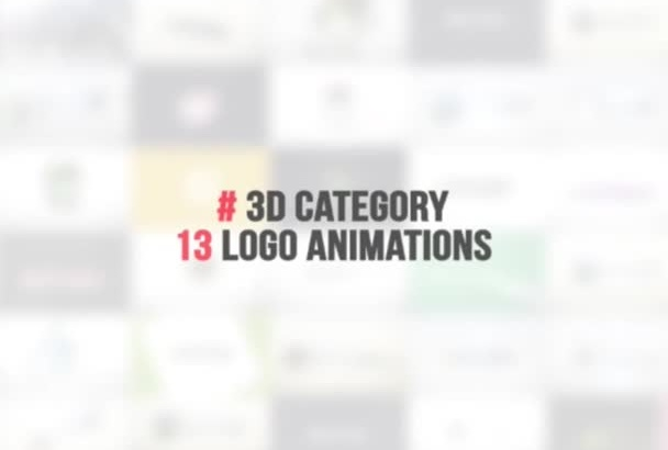create 2 Amazing 2D or 3D Logo Intro Animation for you