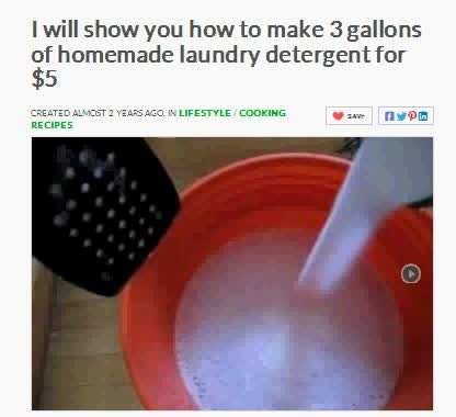 show you how to make 3 gallons of homemade laundry detergent for 3 dollars