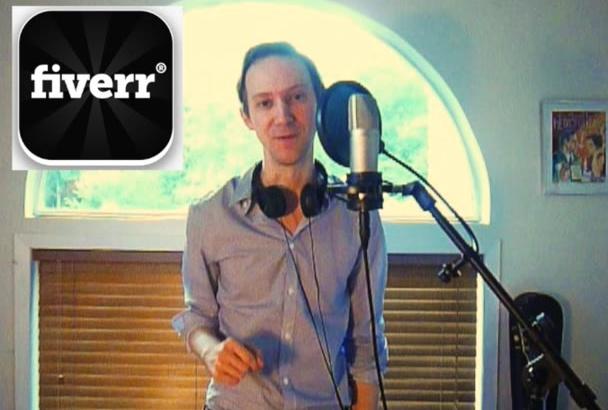 record a male voice over
