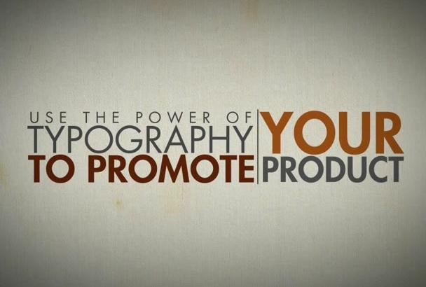 create custom kinetic typography animated explainer videos