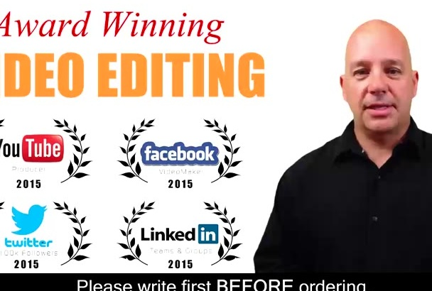 be your AWARD winning video editor