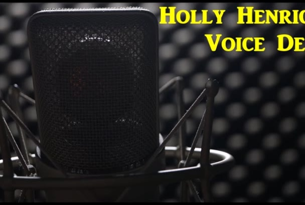 professionally record 100 words of your voice over project