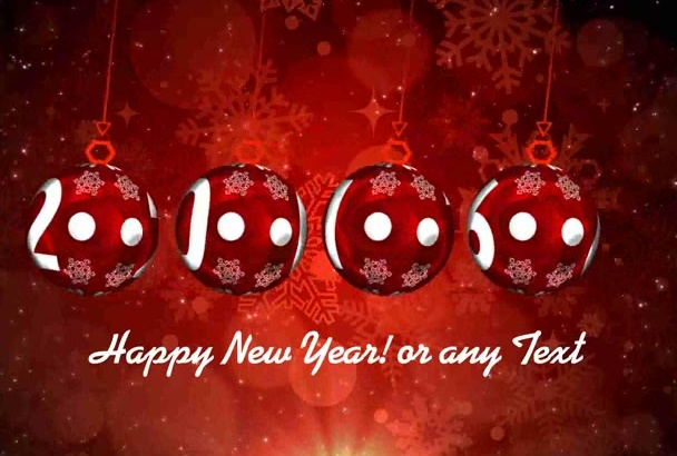 make Happy New Year Greeting with logo and text