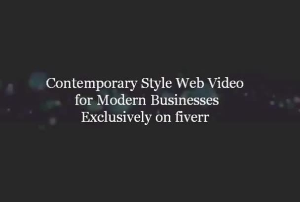 create a snazzy business web video