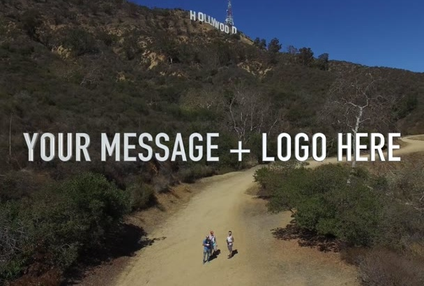 fly my Drone with your Message in Video