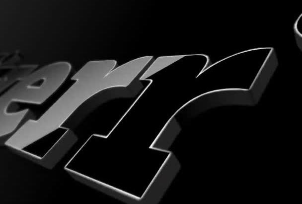 create an eye catching 3D logo animation