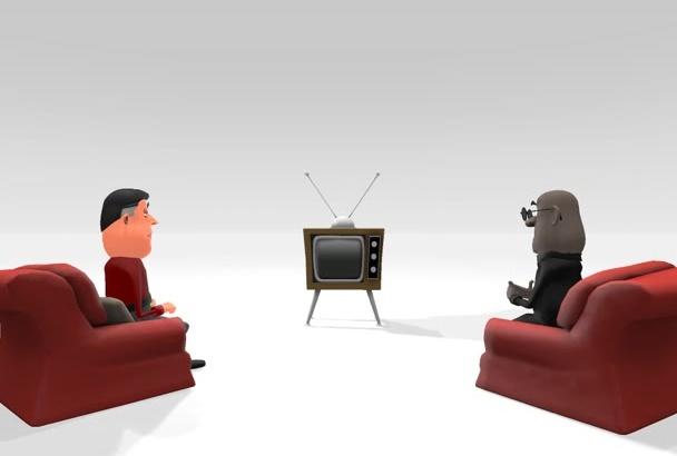 create an awesome 3D cartoon explainer video