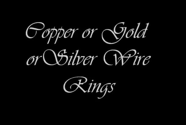 make you a beautiful jewelry piece wire wrap ring
