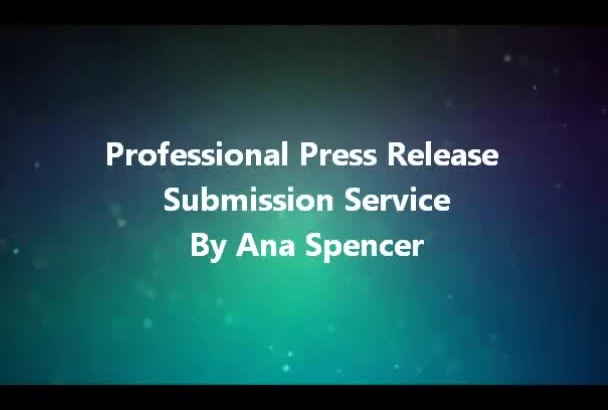 submit your Press Release to Premium SBWire and PRBuzz