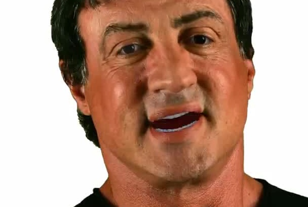 perfectly Mimic Sylvester Stallone in A VIDEO eCard Message