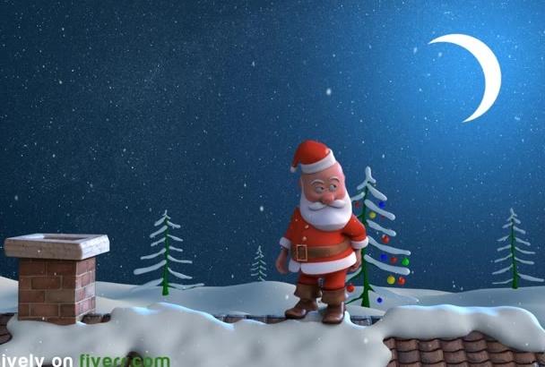 make an awesome Christmas logo intro animation