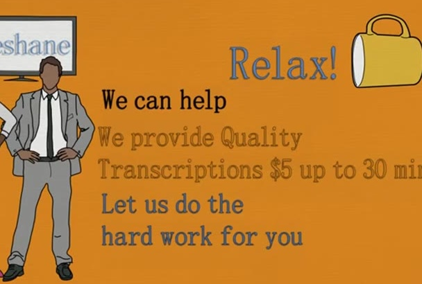 transcribe your audio or video