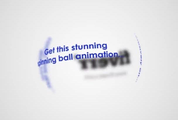 make a Spinning Globe Logo Reveal Animation Intro
