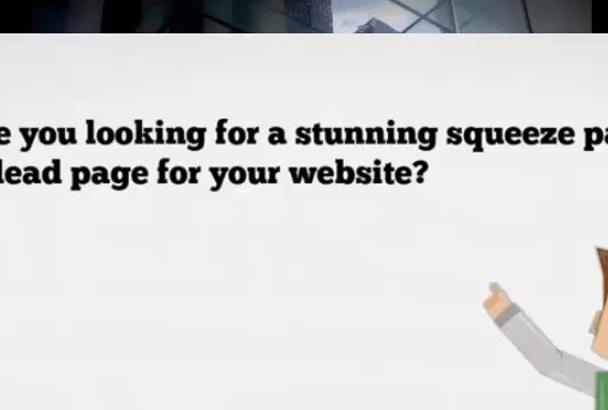 design a responsive  landing page