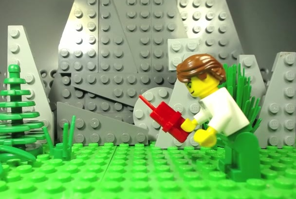 make you an EXPLOSIVE Lego Stop Motion with Your Logo