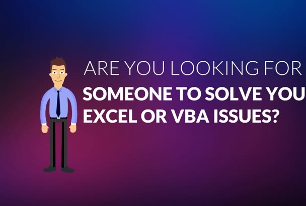 solve your excel and vba problems with 14 yrs of experience
