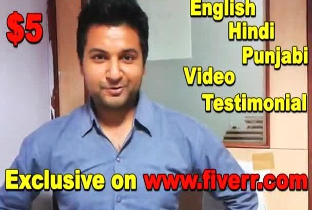 natural Testimonials in English Hindi Punjabi