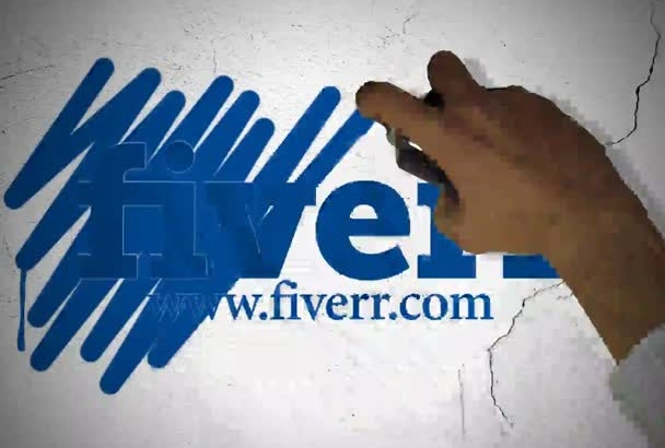do Graffiti Intro Video from your logo and url