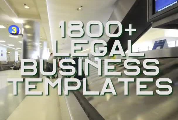 give you1,800 plus Business and Legal Templates