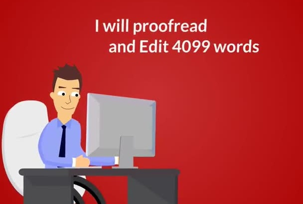 proofread and edit 4099 words