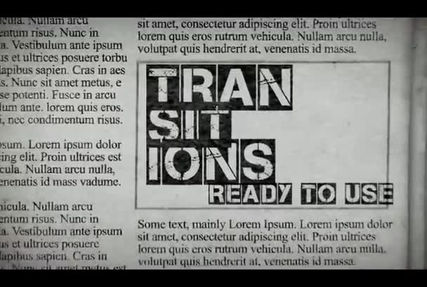 create a Trendy EXPRESSIVE Newspaper Style Kinetic Typography