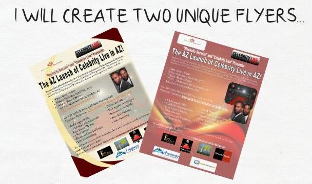 create 2 UNIQUE flyers
