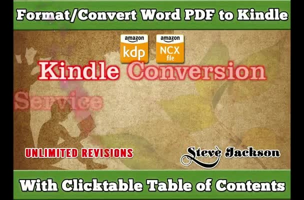 format and convert File To KINDLE Ebook Less Than 24 Hours