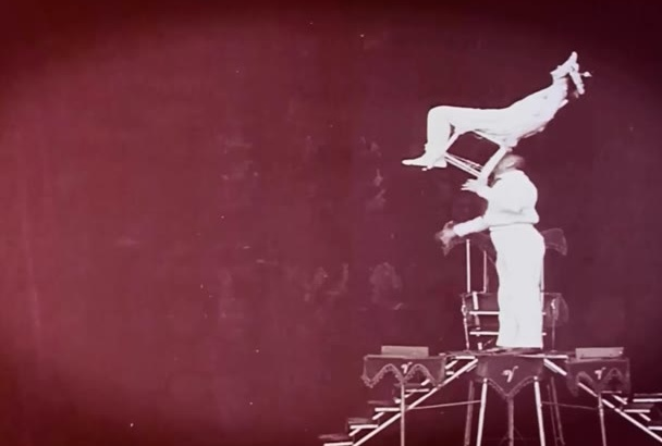create an awesome promotional music video vintage theme