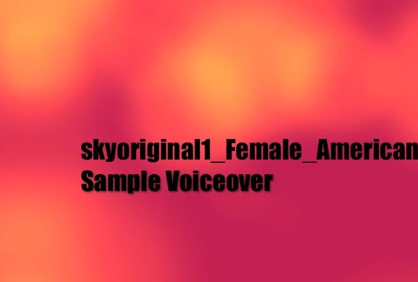 record a smooth American female accent voice over