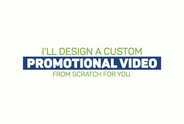 animate custom promo video in flat design