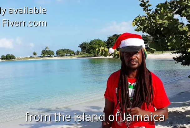 do Holiday video greeting from Jamaica Beach