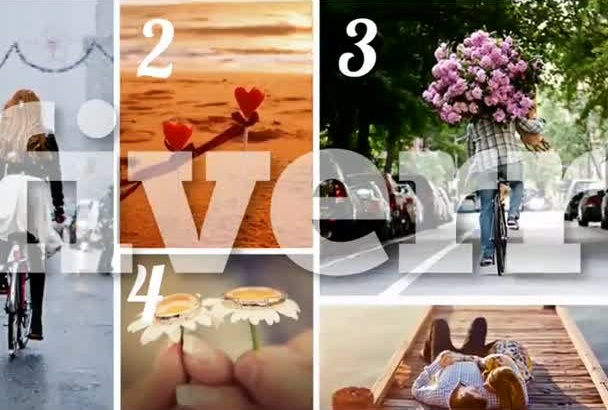 , create a beautiful slideshows with your 24 photos